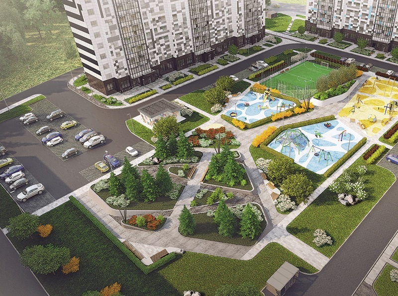 THE PROJECT OF COMPLEX LANDSCAPING DESIGN OF THE TERRITORY RESIDENTIAL AREA RIVER PARK