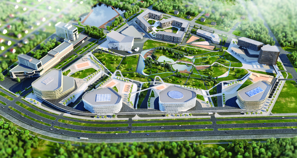 ARCHITECTURAL AND TOWN-PLANNING CONCEPT OF THE RESEARCH AND PRODUCTION COMPLEX OF BUILDINGS «CONTOUR-PARK»