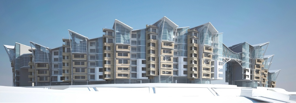Comfortable residential complex of medium height for families with medium and high income