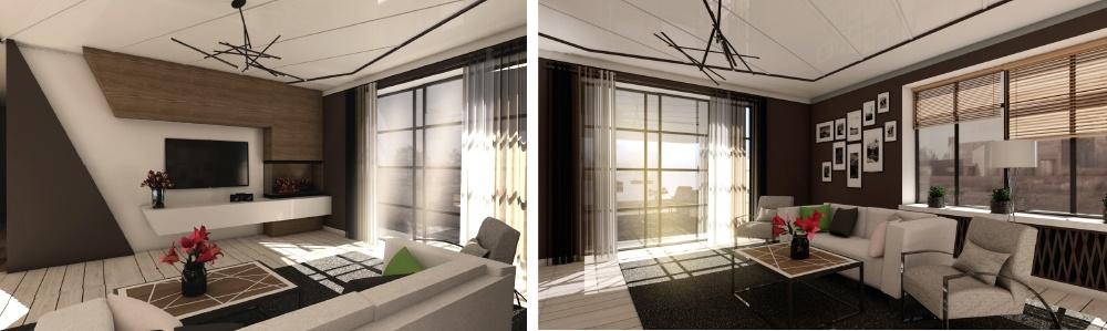 Interior design of an apartment house