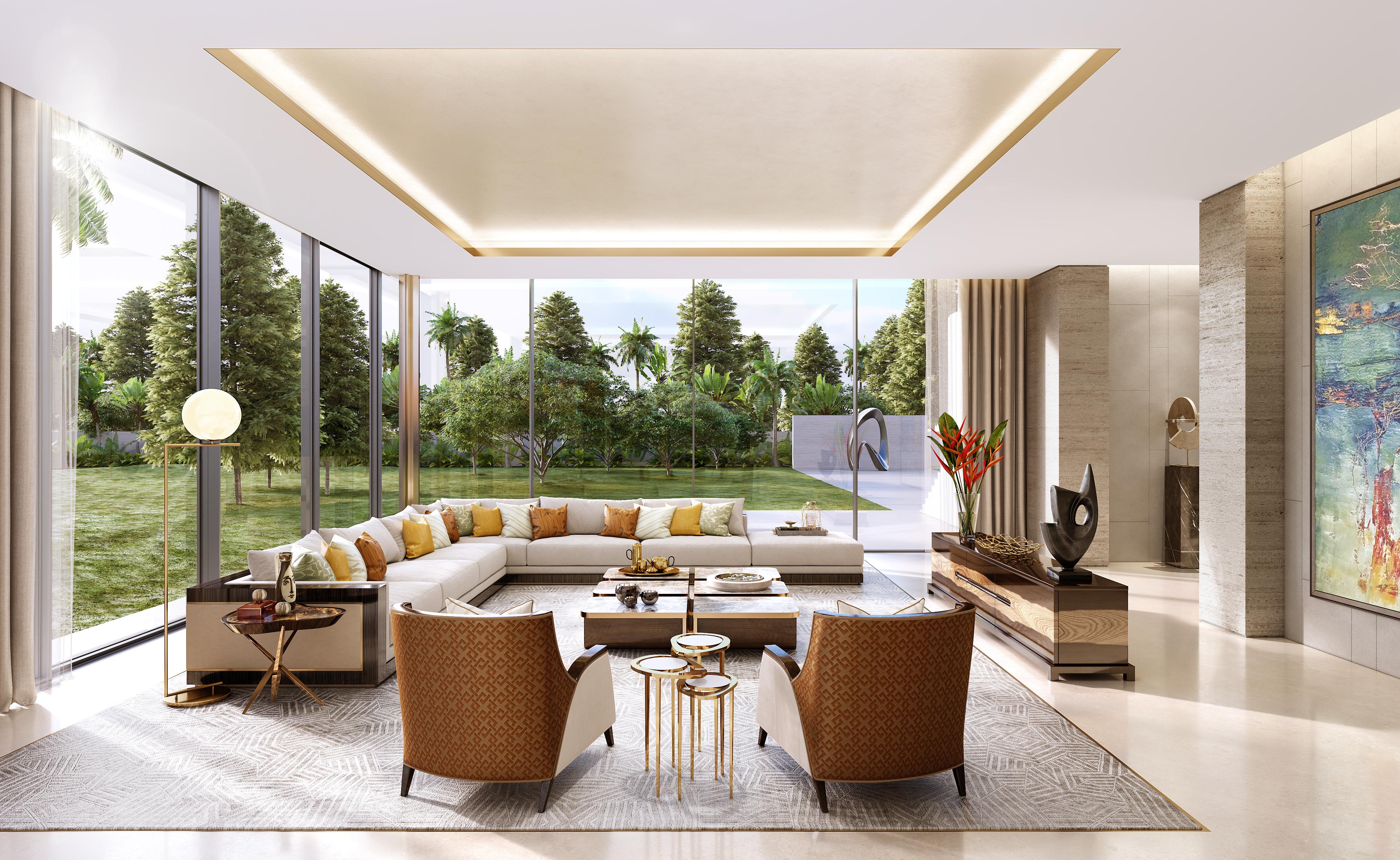 HBA Residential_Delhi Summer House_Living