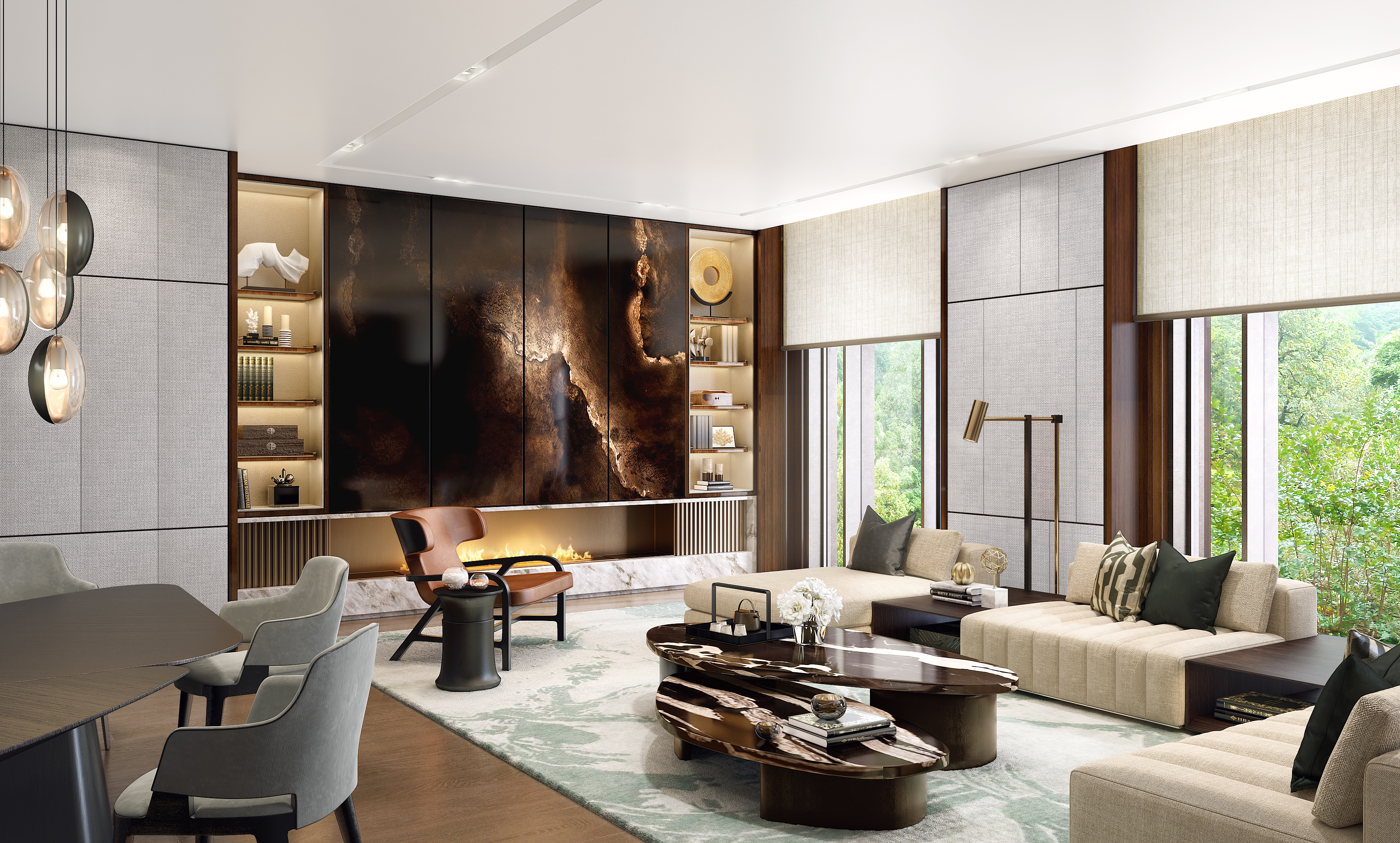 HBA Residential_Ningbo Private Residence and Clubhouse_Family Lounge