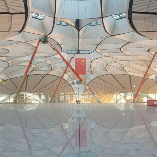 Beijing, Beijing, China. 16th Jan, 2019. Beijing, CHINA-The interior design of Beijing Daxing International Airport.Beijing Daxing International Airport, located on the border of Beijing and Langfang, Hebei Province, is Beijing's second international airp